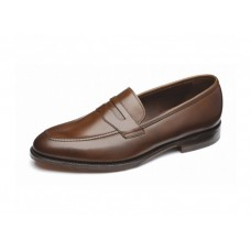 Loake Penny Loafer Style Whitehall Dark Brown Mens Shoes