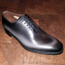 Barker Wordsworth Oxford Style Graphite Calf Leather Mens Shoes (08½)