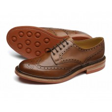 Loake Derby Brogue Style Worton Brown Mens Shoes