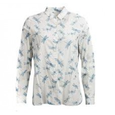 Barbour Bowfell Ladies Long Sleeve Shirt - White Dragonfly