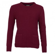 Barbour Jumper Brecon Ladies Soft Bordeaux Knit
