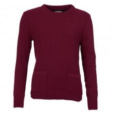 Barbour Jumper Brecon Ladies Soft Bordeaux Knit